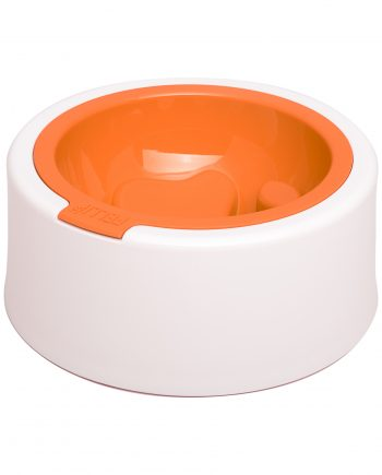 Fellipet Kaleido Good Manners Dog Food Bowl tangerine orange